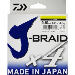 Tresse J-Braid x4 brins 300m Multicolor - Daiwa