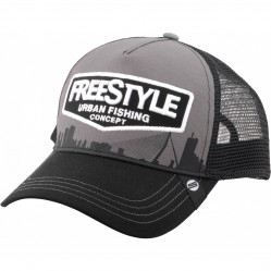 Casquette freestyle Trucker Grey front Cap - Spro