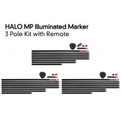 Kit de marqueurs lumineux Halo Illuminated Marker Pole – 3 Pole Kit Including Remote - Fox
